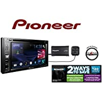 Pioneer In Dash Double Din AVH-X390BS 6.2 DVD Receiver with Built in Bluetooth and SiriusXM Satellite Radio Tuner and Receiver with a FREE SOTS Air Freshener Included