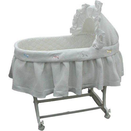 Pique Bassinet - aBaby Short Pique Fleece Bassinet Skirt, Large