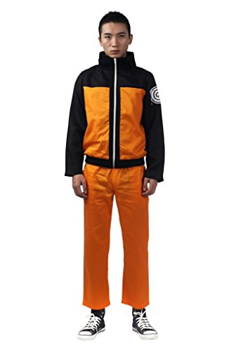 Mtxc Men's Naruto Cosplay Uzumaki Naruto 2nd Ver Size Medium (Naruto Costumes)