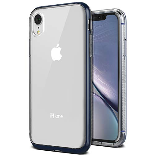 iPhone XR Case, VRS Design [Blue] Transparent Dual Layer Heavy Duty Protection [Crystal Bumper] Anti-Yellowing TPU Body PC Bumper Compatible with Apple iPhone XR (2018)
