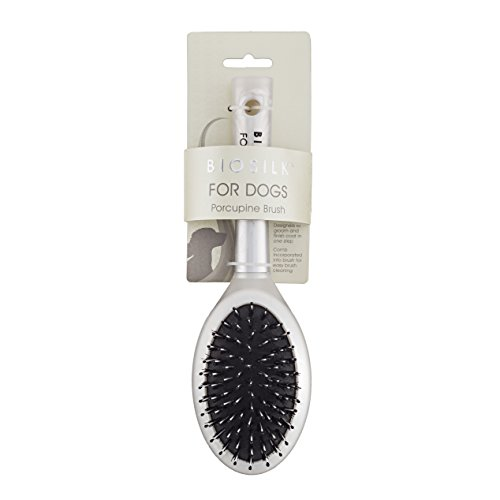 Brush Porcupine Bristle - BioSilk for Dogs Porcupine Brush | Removes Mats, Tangles and Loose Hair with Minimal Effort and Comfort | Suitable for Long or Short Hair