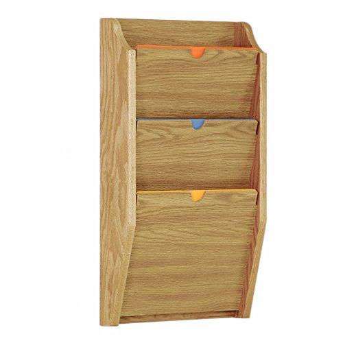 - Wooden Mallet 3-Pocket Privacy Chart Holder, HIPAA Compliant, Letter Size, Medium Oak