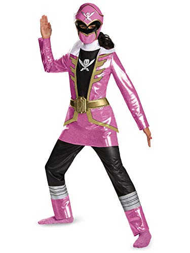 Disguise Saban Super Megaforce Power Rangers Pink Ranger Deluxe Girls Costume, Medium/7-8