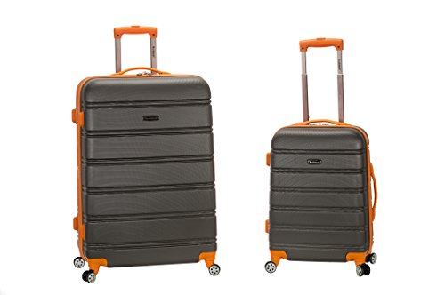 Rockland 20 Inch 28 Inch 2PC Expandable ABS Spinner Set, Charcoal, One...