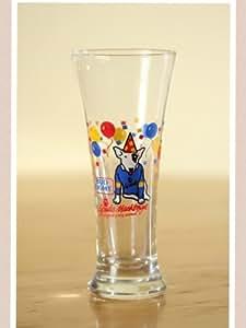 """Set of 2 - Vintage 1987 Bud Light """" Spuds Mackenzie """" Original Party Animal Pilsner Beer Glasses"""