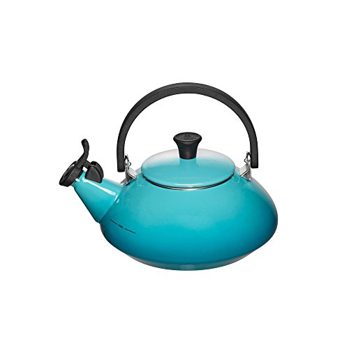 Le Creuset Enamel-on-Steel Zen 1-2/3-Quart Teakettle, Caribbean