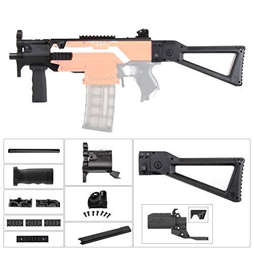 JGCWorker Mod Kit Set for Nerf N-Strike Elite Stryfe Blaster Upgrade Model Nerf Modulus Attachment (MP5-K-B) ()