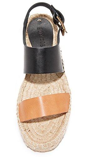 Flat Soludos Black black Color Platform Bi Nude Nude Sandal Women's 7a47O