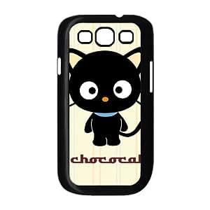 MeowStore Cute Cartoon Black Kitten Chococat Phone Case For Samsung Galaxy S3 I9300 Black