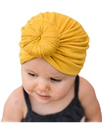 Kids Baby Bohemian Head Wrap Cap Cute Cotton Turban Knot Hat