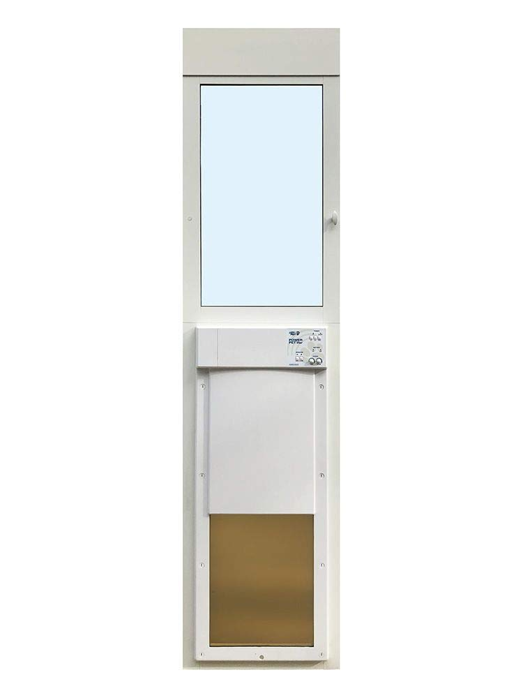 Power Pet Fully Automatic Sliding e-Glass Pet Door (Regular 75'' - 80-1/4'', Large (up to 100 lbs.)) by High Tech Pet