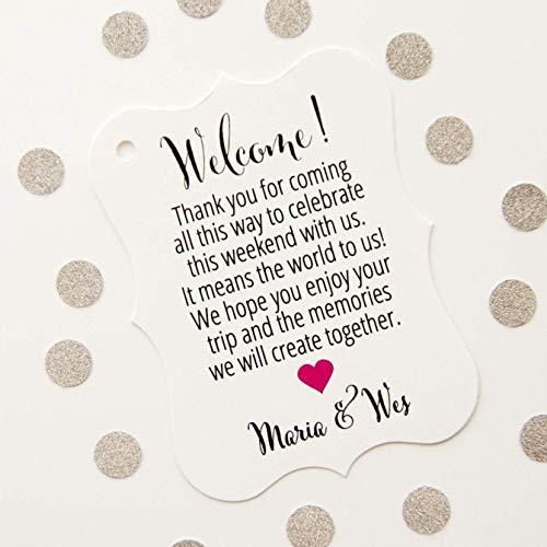 Welcome Destination Wedding Hotel Bag Tags