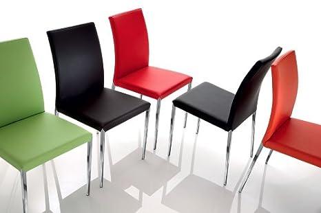 Eurosedia sedia giada cuoio tortora set da sedie amazon