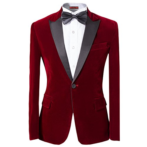 Mens 2-piece Suit Peaked Lapel One Button Tuxedo Slim Fit Dinner Jacket & Pants