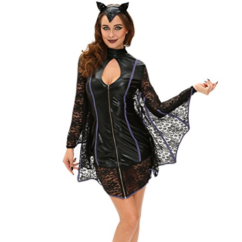 [BYY Flirty Vamp Bat Costume(Size,S)] (Cute Conservative Halloween Costumes)