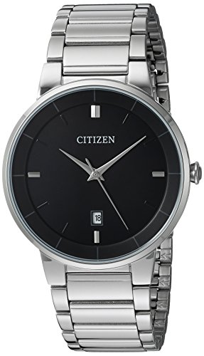 Citizen Mens Black Dial Watch - Citizen Men's Quartz Stainless Steel Watch, BI5010-59E