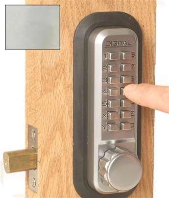 Digital Door Lock 2210 Deadbolt, Bright Chrome by Lockey USA