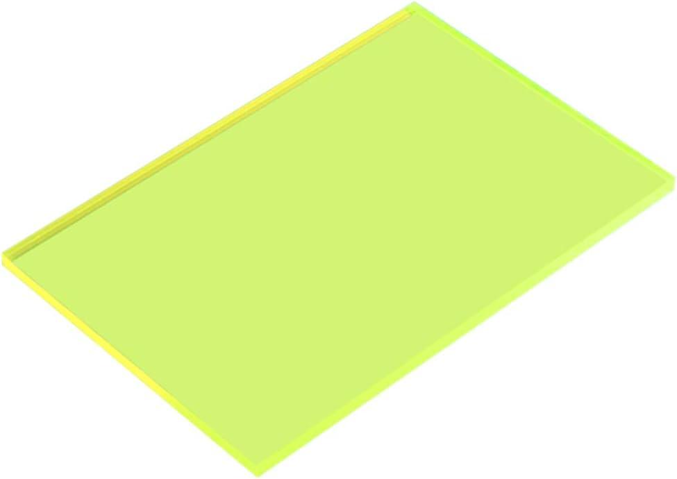 Dumadf Hoja Verde-Acrílico plexiglás Transparente plástico moldeable Bricolaje Panel de la Junta tintados, 8 mm de Espesor,300x300mm