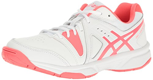 ASICS Women's Gel-Gamepoint Tennis Shoe, White/Diva Pink, 5.5 M US