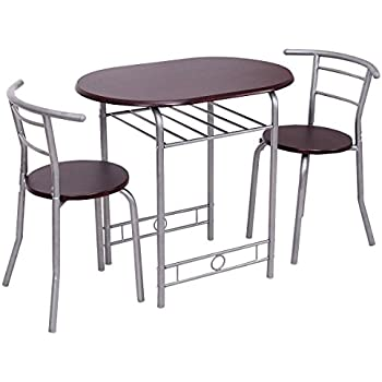 Giantex 3 PCS Bistro Dining Set Table And 2 Chairs Kitchen Pub Home  Furniture Restaurant (
