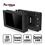 PortKeys LH5T 5 Inch 4K Camera Monitor with 3D LUT,Touch Remote Camera,AV ISO TV Zoom Focus REC Playback AF/MF Focus Take Photos,Power to Camera by Dummy Battery