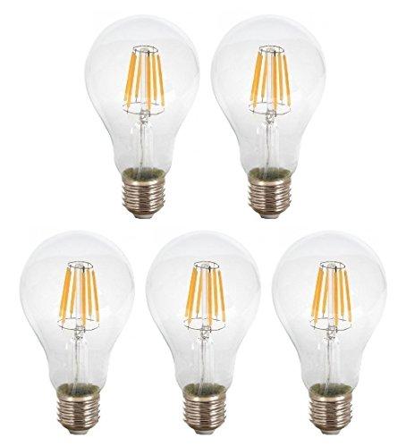 Warmweiß 800 Lm Birne 3000K Glühbirne Lampe Filament Φ67 X H123 Mm A67 300  ° 8W ...