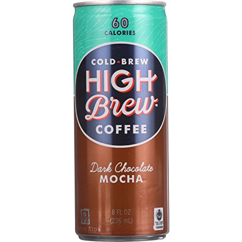 High Brew Coffee Coffee - Ready to Drink - Dark Chocolate Mocha - 8 oz - case of 12 - Wheat Free - 60 Calories
