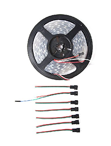 Digital RGB LED Strip 60 LED - (3m)(Weatherproof)/Integrated Control Circuit And RGB Chip/Built-In Signal Reshaping Circuit/Over 50,000 Hours Life by D&F
