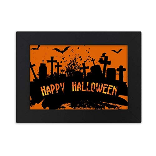 Halloween Horror Nights 4 Opening (DIYthinker Horror Night Cemetery Halloween Desktop Photo Frame Black Picture Art Painting 5x7)