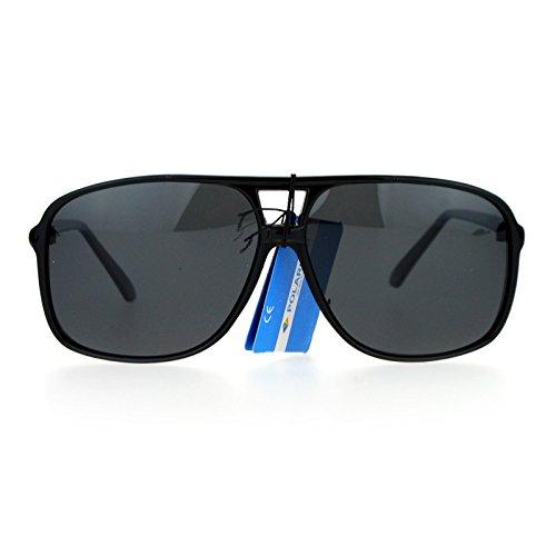 SA106 Mens Antiglare Polarized Racer Pilot Plastic Sunglasses All ()