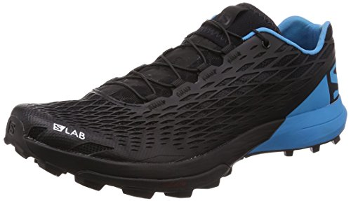 Salomon Unisex S-Lab XA Amphib Running Trail Shoes Black/Transcend Blue/Racing Red (Unisex Racing Shoes)
