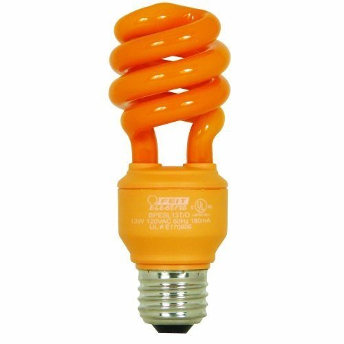 Feit Electric BPESL13T/O 13-Watt Compact Fluorescent Mini Twist Orange Bulb ()