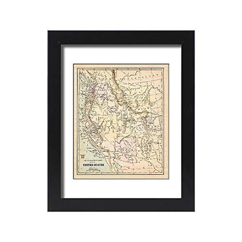 Media Storehouse Framed 15x11 Print of United States map 1881 (13669307)