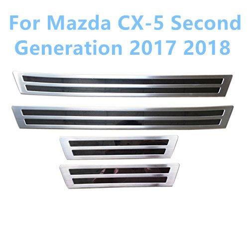 Acciaio inossidabile esterno battitacco Batticalcagno soglia 4pcs per CX-5 seconda generazione 2017 2018 YUZHONGTIAN Auto Trims Co. Ltd