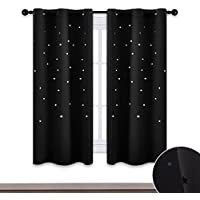 NICETOWN Nap Time Starry Kids Curtains - Laser Cutting...