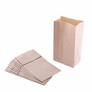 Paper Lunch Bags Pack Of 500 Bags Paper Grocery Bags Brown, 3 LB Durable Kraft Paper Bags