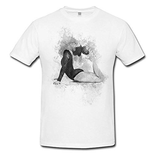 Turnen XIII T-Shirt Herren, weiß mit Aufdruck