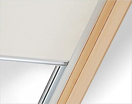 Verdunkelungsrollo RUR C2A beige Innenrollo mit 100/%iger Verdunkelungswirkung 37 cm breit f/ür Dachfenster Gr/ö/ße C2A 55 x 78 cm