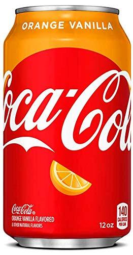- Orange Vanilla Coke Coca-Cola Soda Drink, 12oz Can (Pack of 18, Total of 216 Fl OZ)