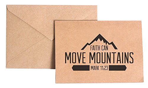 Faith Can Move Mountains Christian Stationery Note Card Set