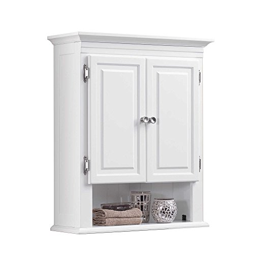 Wakefield 3-Shelf with 2-Doors Bathroom Wall Mount Cabinet in White by Wakefield