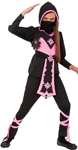 Girls Pink Ninja Costumes (Rubies Costume Child's Pink Crystal Ninja Costume, Medium, Multicolor)
