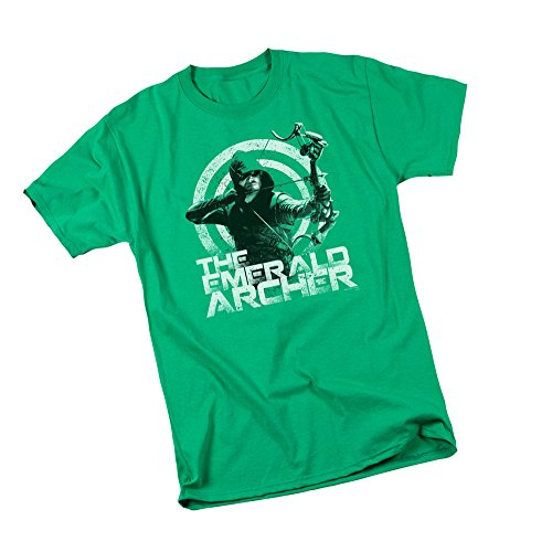 The Emerald Archer -- CW's Arrow TV Show Adult T-Shirt, Medium