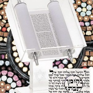 Kosher Gift Basket - Torah Scroll Centerpiece by Kosher Gift Baskets