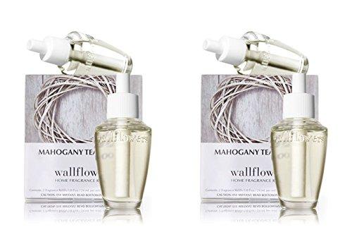 Bath & Body Works Mahogany Teakwood Wallflowers 4-Pack Refills, 0.8 fl oz / 24 mL Each