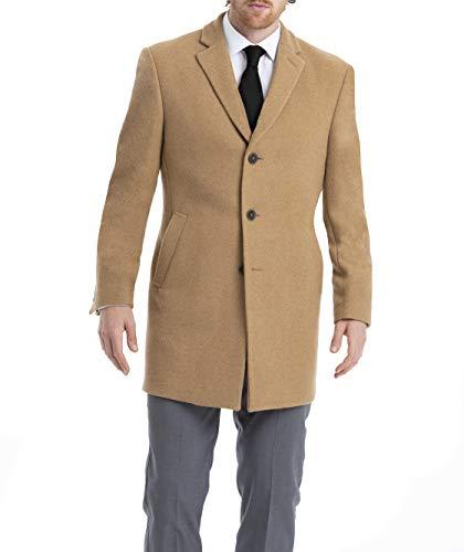Calvin Klein Men's Slim Fit Wool Blend Overcoat Jacket