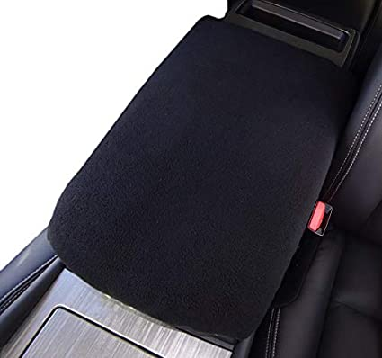 Car Console Covers Plus Made in USA Fleece Auto Armrest Center Console Cover Designed for Nissan Murano 2016-2020 Black
