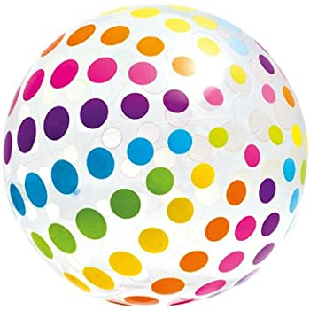 Giant rainbow beach ball huge 32 diameter for Intex pool 150 cm tief