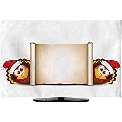 Television Cover Christmas Card Design Template L47 x W48
