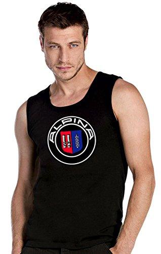 BMW ALPINA LOGO schwarze Top Tank T-Shirt -2531